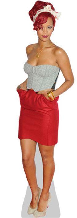 Rihanna-Red-Dress-Cardboard-Cutout-lifesize-OR-mini-size-Standee-Stand-Up