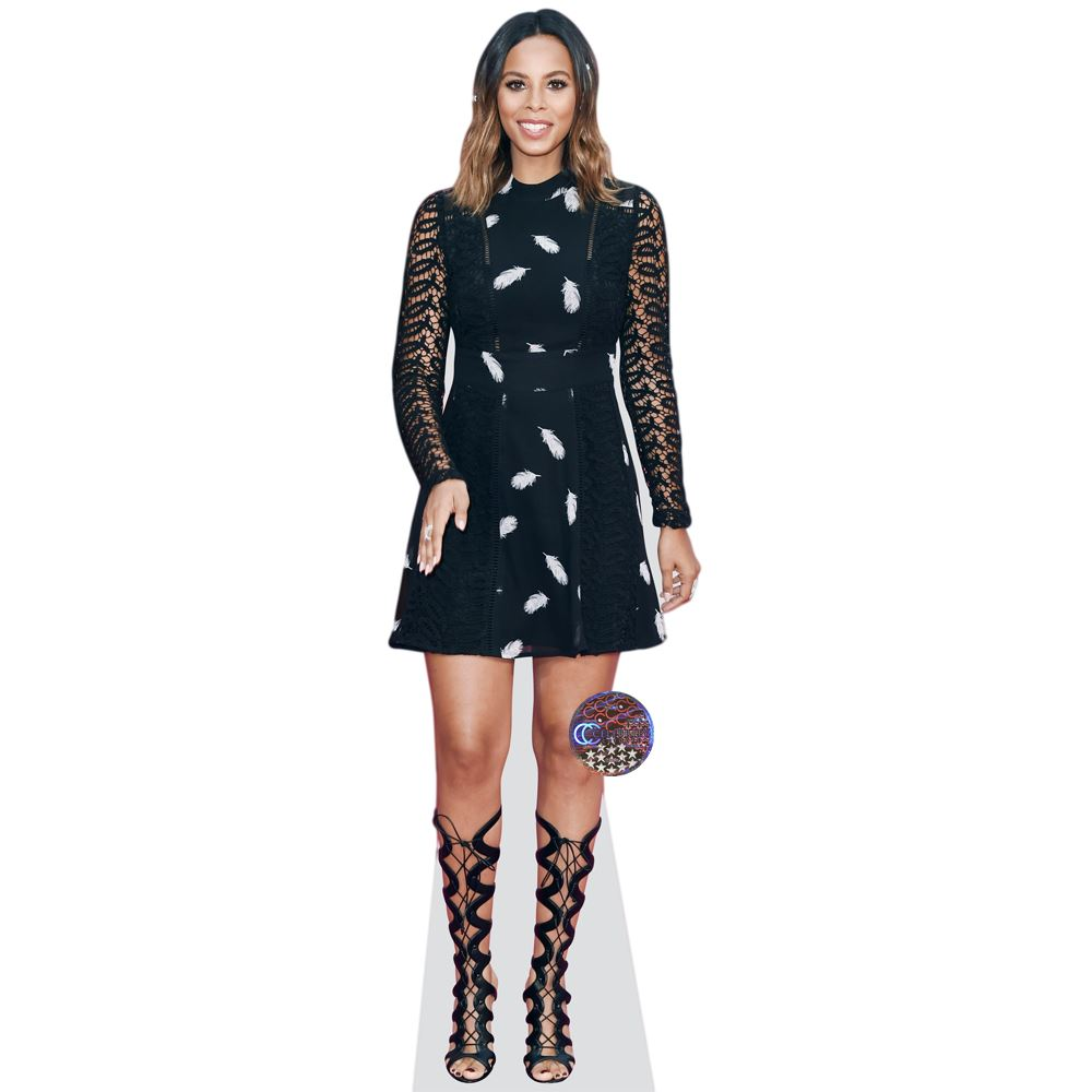 Rochelle-Humes-Wiseman-Black-Dress-Cardboard-Cutout-lifesize-OR-mini-size