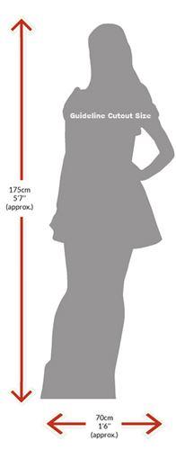 Sophia-Bush-Pink-Dress-Silhouette-carton-grandeur-nature-ou-taille-mini