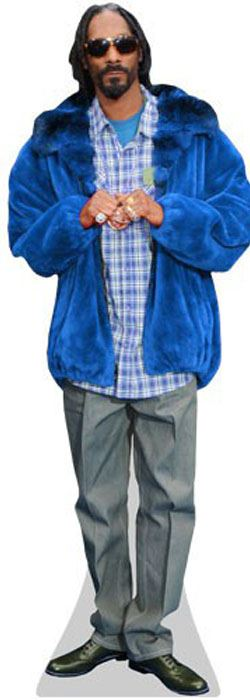 Snoop-Dogg-Blue-Coat-Cardboard-Cutout-lifesize-mini-size-Standee-Stand-Up