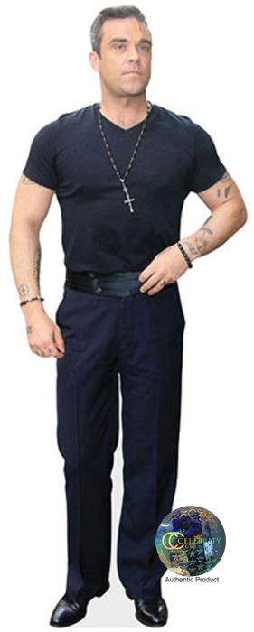 Robbie-Williams-Casual-Cardboard-Cutout-lifesize-mini-size-Standee-Stand-Up