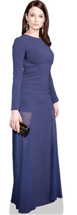Rachel-Nichols-Blue-Dress-Figura-de-carton-en-tamano-natural-o-reducido