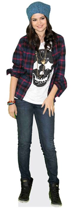 Selena-Gomez-Cardboard-Cutout-lifesize-OR-mini-size-Standee-Stand-Up