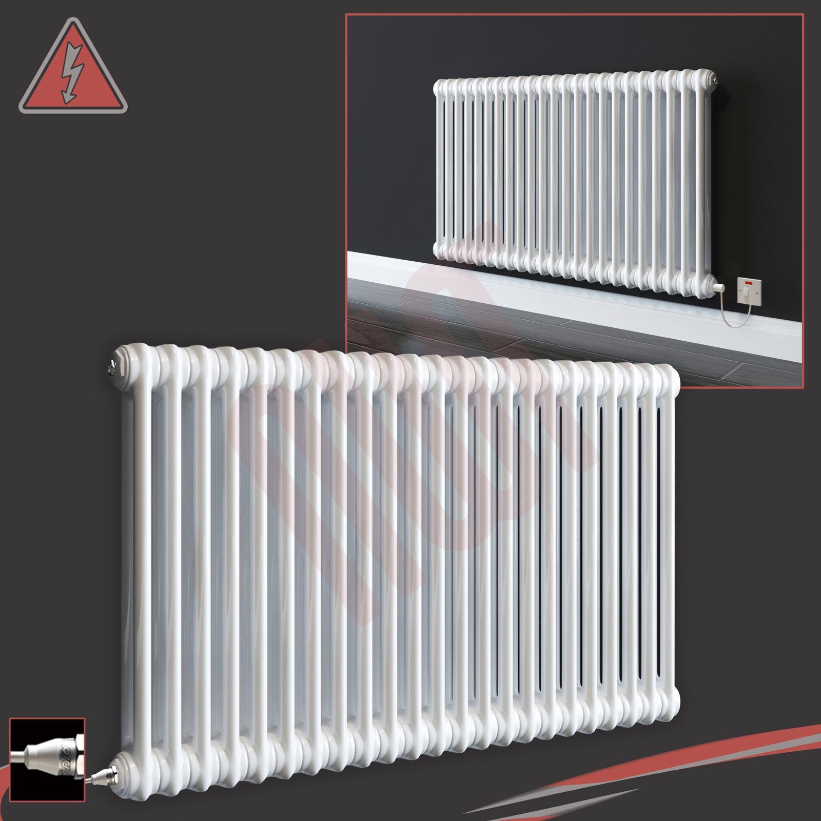 Electric Quot Evora Quot 2 Column White Horizontal Radiators