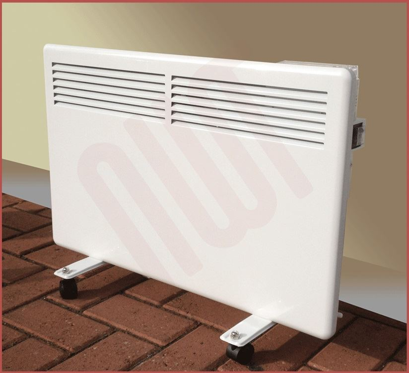 1000w nova live s electric white panel convector heater for Convector mural