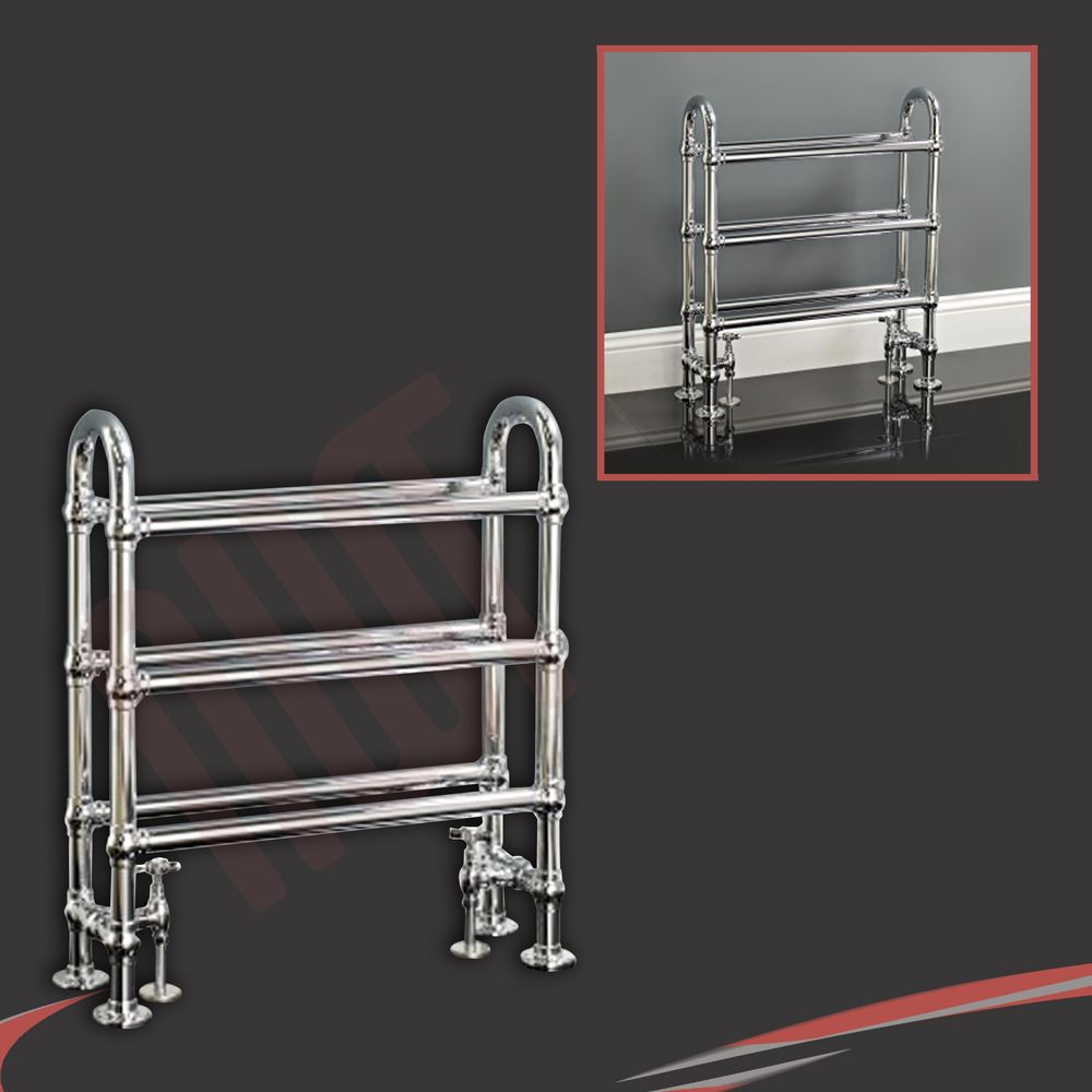 high btus traditional designer chrome heated towel rails. Black Bedroom Furniture Sets. Home Design Ideas
