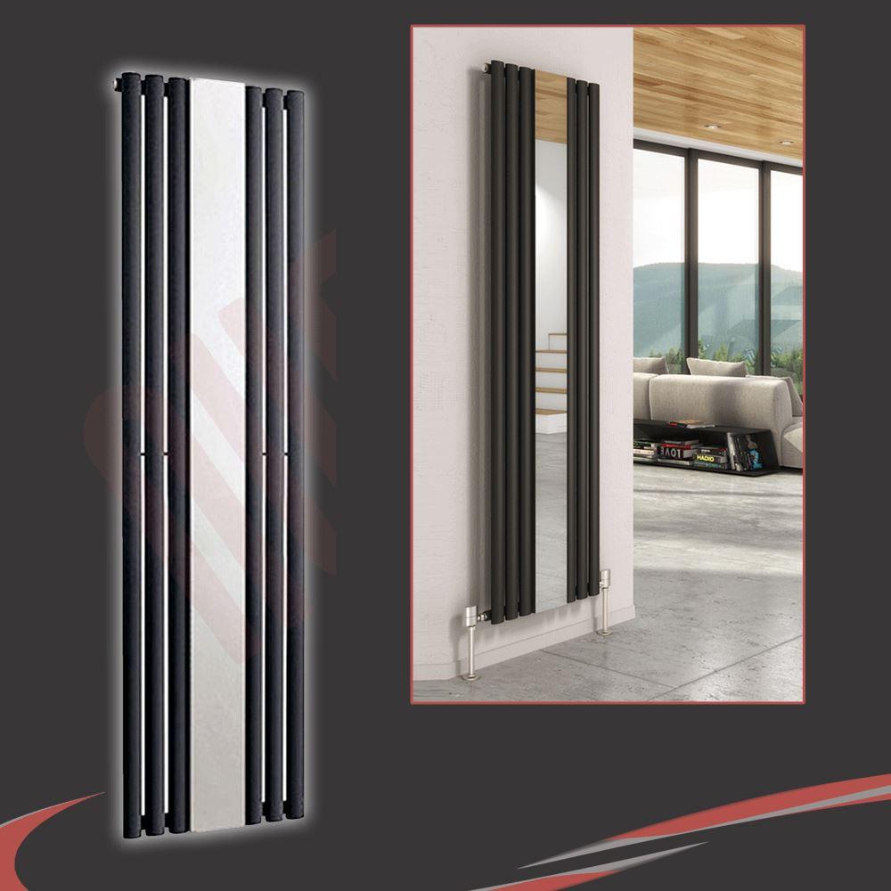 Vertical designer mirror radiators oval flat tube - Specchio verticale ...