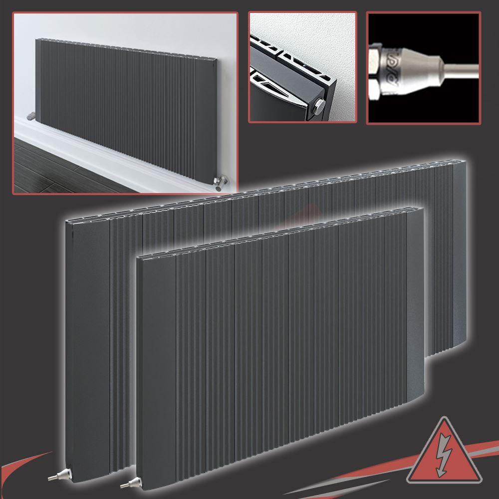 """510 mm Chrome Porte-serviettes pour /""""Cariad/"""" unique vertical aluminium radiateurs W"""