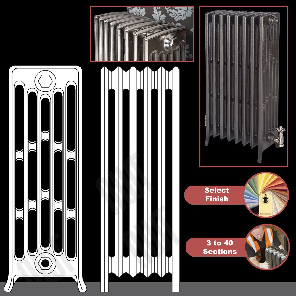 The Quot Mayfair Quot 6 Column 960mm High Cast Iron Radiators 3