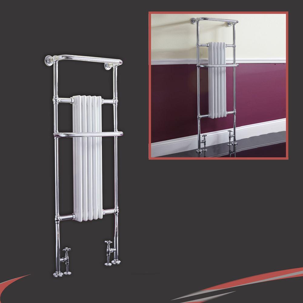 Sale white amp black designer heated towel rails bathroom radiators - High Btus Traditional Designer Chrome Heated Towel Rails