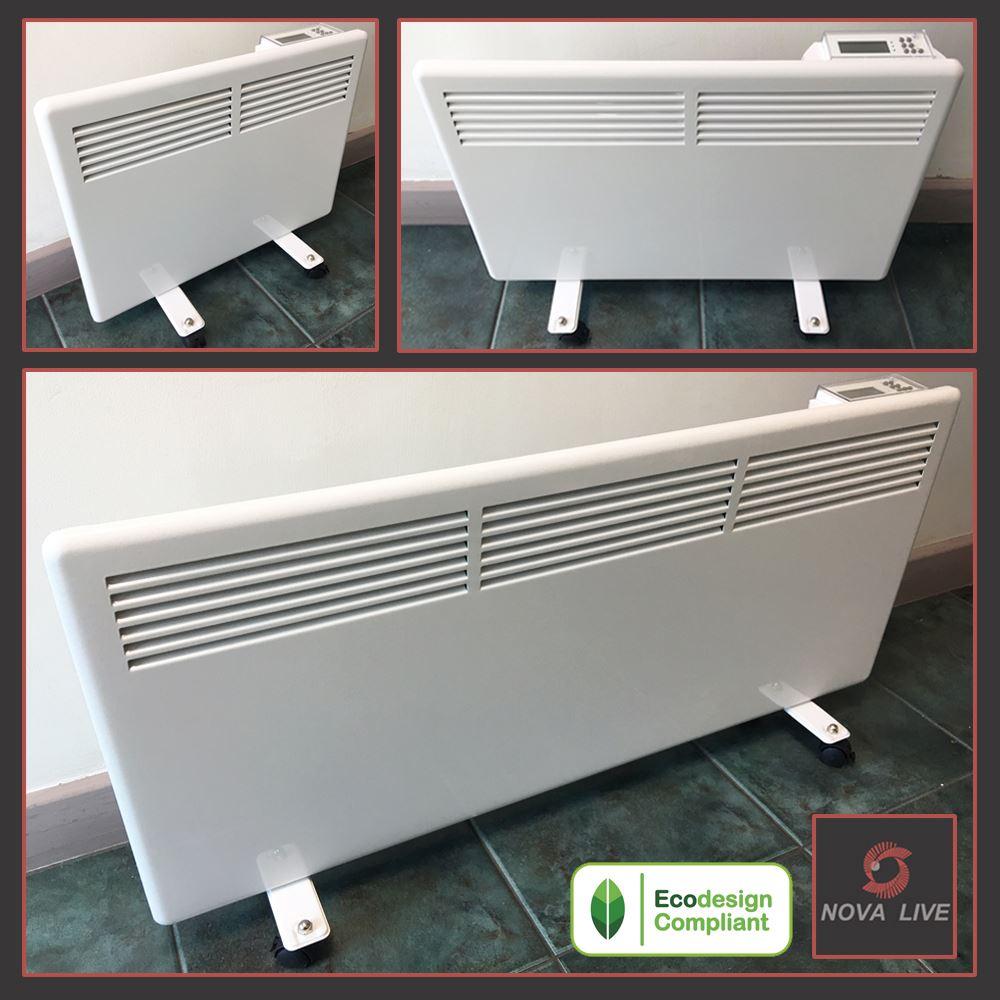 Slimline NOVA LIVE S Floor Standing blanc électrique Eco Panneau chauffage radiateurs