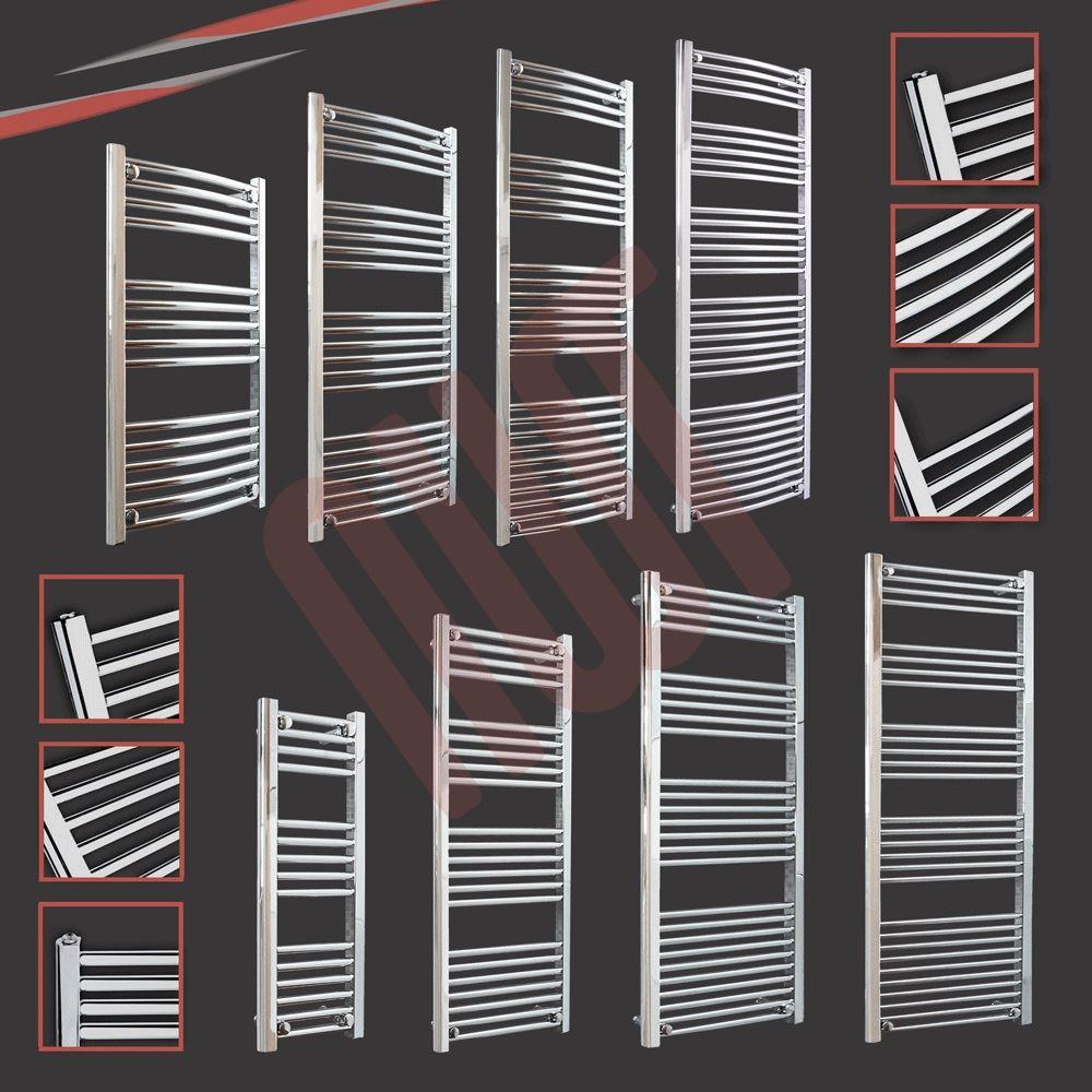 600mm x 1600mm Cromo dritto bagno binario calorifero radiatore 2945 BTU