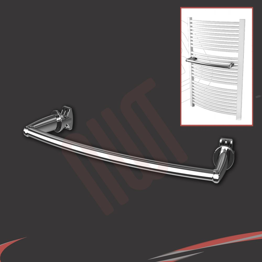 Chrome & White Towel Rail Accessories - Towel Bars, Rings ...