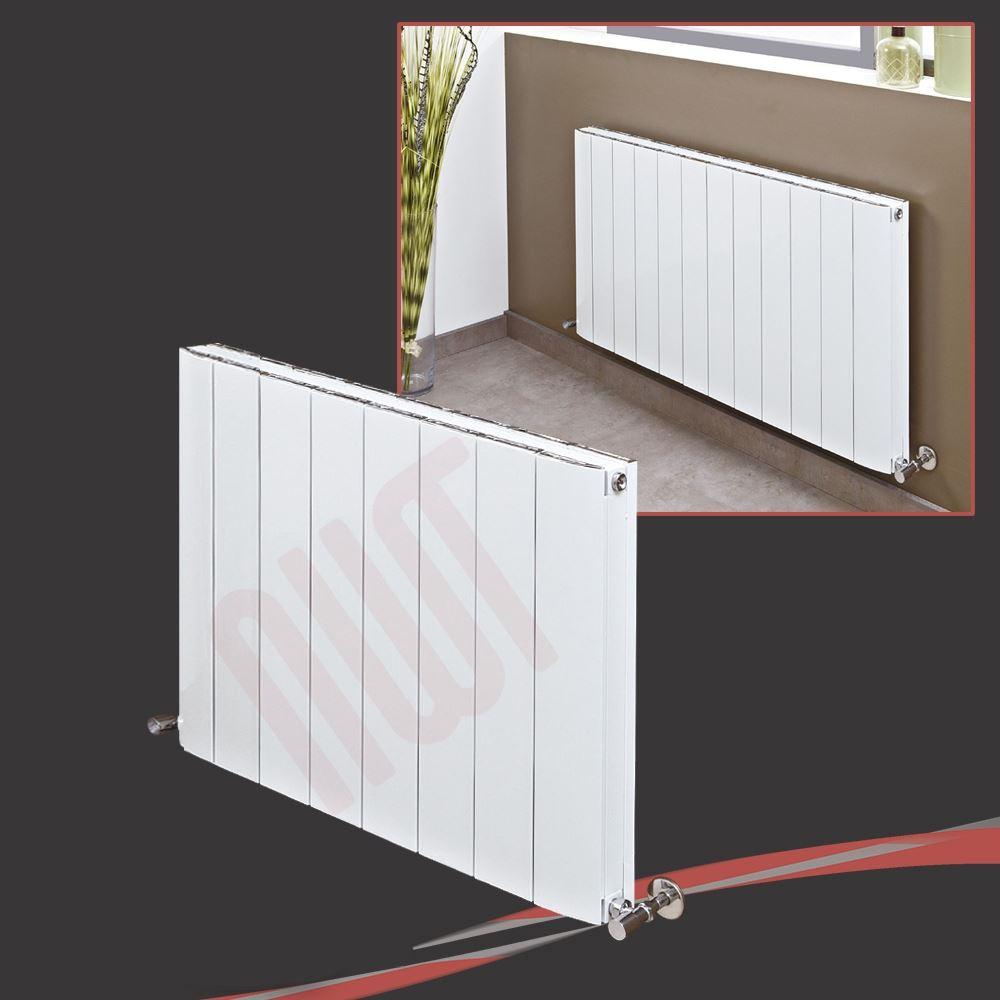 """W 1250 mm x 440 mm /""""Corwen/"""" blanche horizontale écran plat Radiateur H 2870 BTU"""