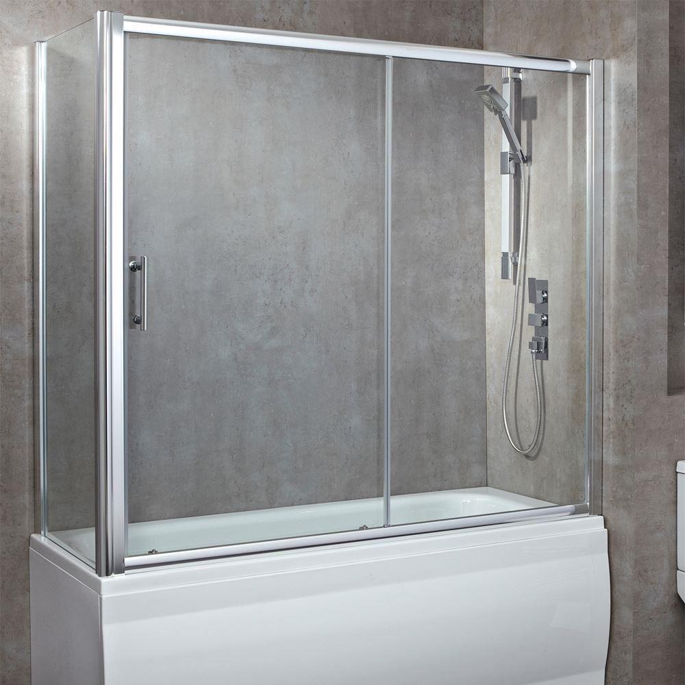 Luxury Over Bath Screens + Single Sliding Door (680mm Opening) 6 ...