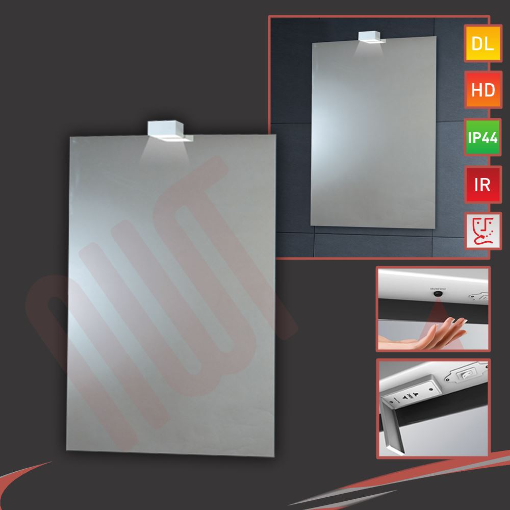 LED Down Lighter Bathroom Mirrors Infrared Sensor Heat