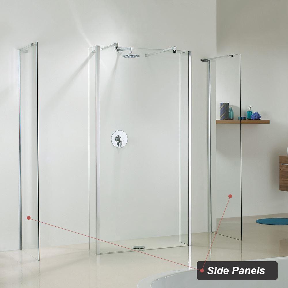 HIGH QUALITY! Shower Walls & Wet Room Shower Enclosures (10mm ...