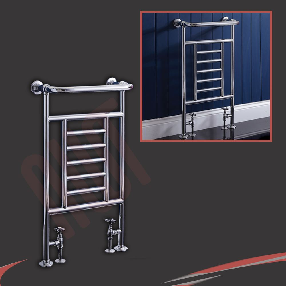 traditional bathroom towel rails radiators chrome   white