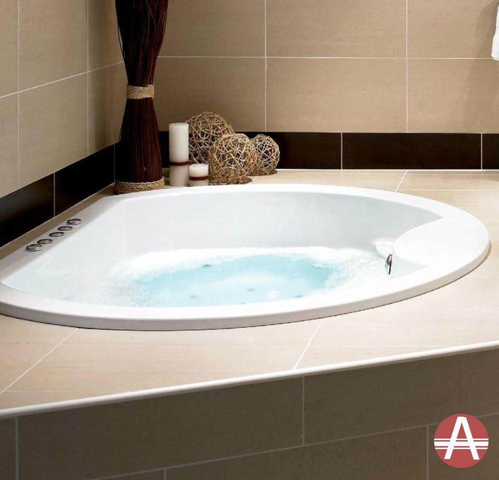 Quot Lincoln Quot Round Inset Designer Luxury Bath Standard Whirlpool Airpool Option Ebay