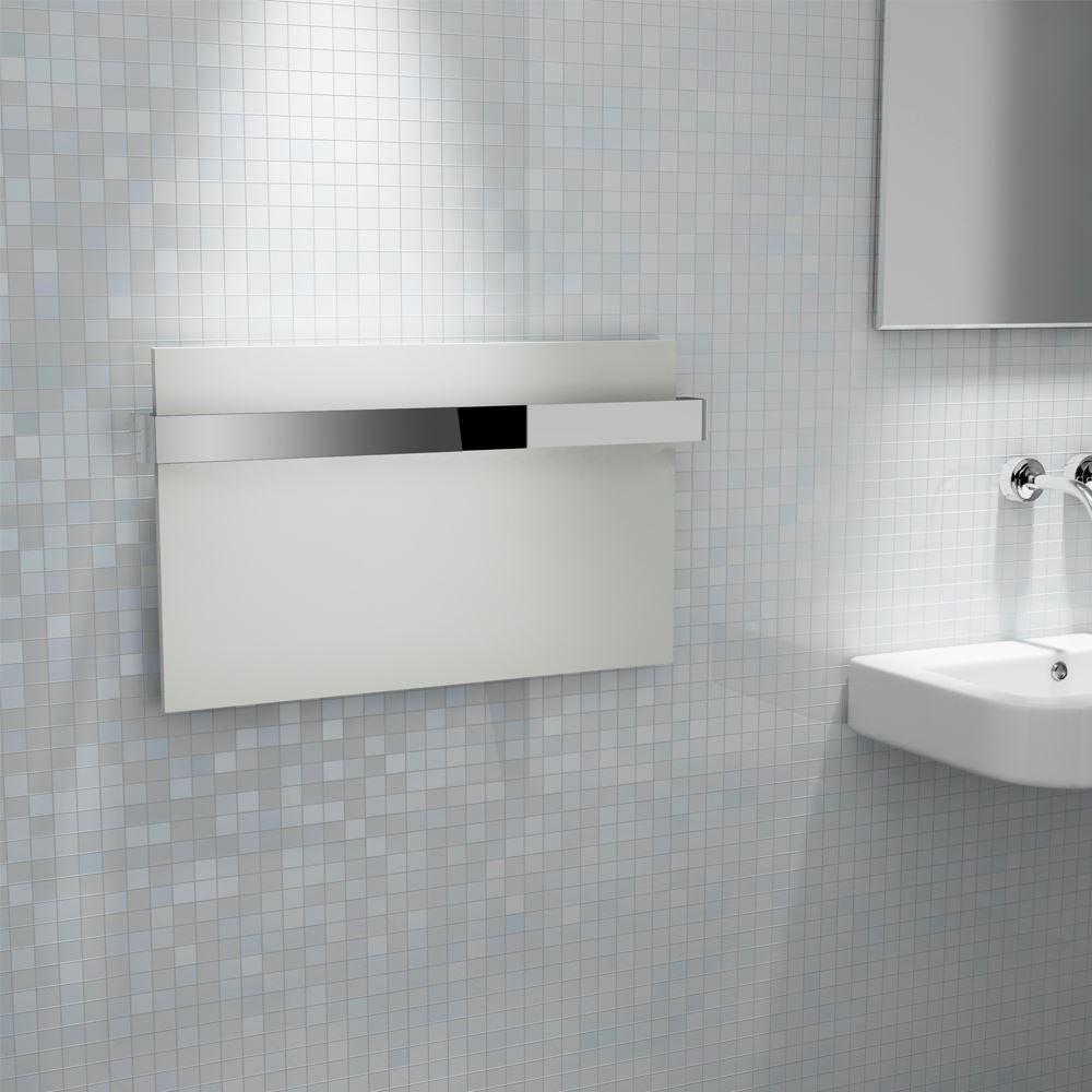 "Kudox Flat Electric Towel Radiator: Kudox ""Ikon"" Designer White Heated Towel Rail Radiator"