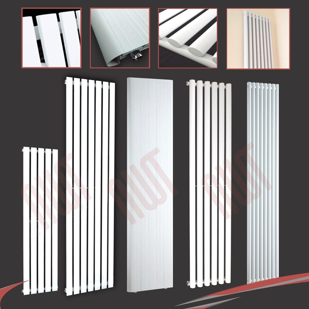 Radiatori In Alluminio O Acciaio dettagli su verticale bianco designer radiatori-oval tube & schermi piatti,  acciaio o alluminio- mostra il titolo originale