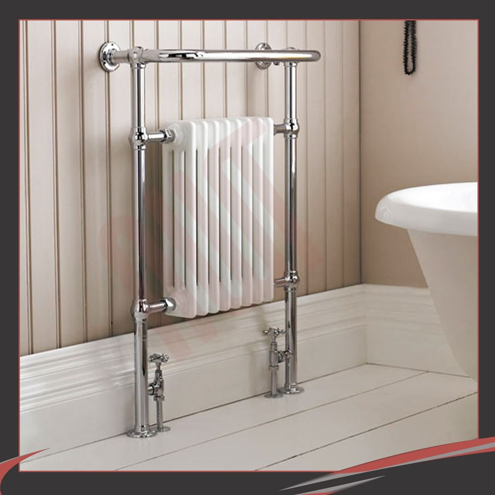 traditional designer chrome heated towel rails bathroom radiators ebay - Designer Heated Towel Rails For Bathrooms