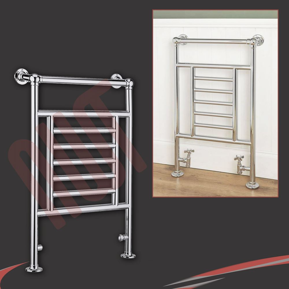 Traditional Bathroom Towel Rails Radiators Chrome White Wall Floor Mounted Ebay