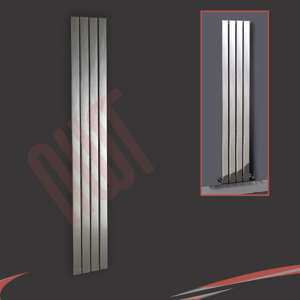 Quot Luna Quot Flat Panel Designer Chrome Radiators Central
