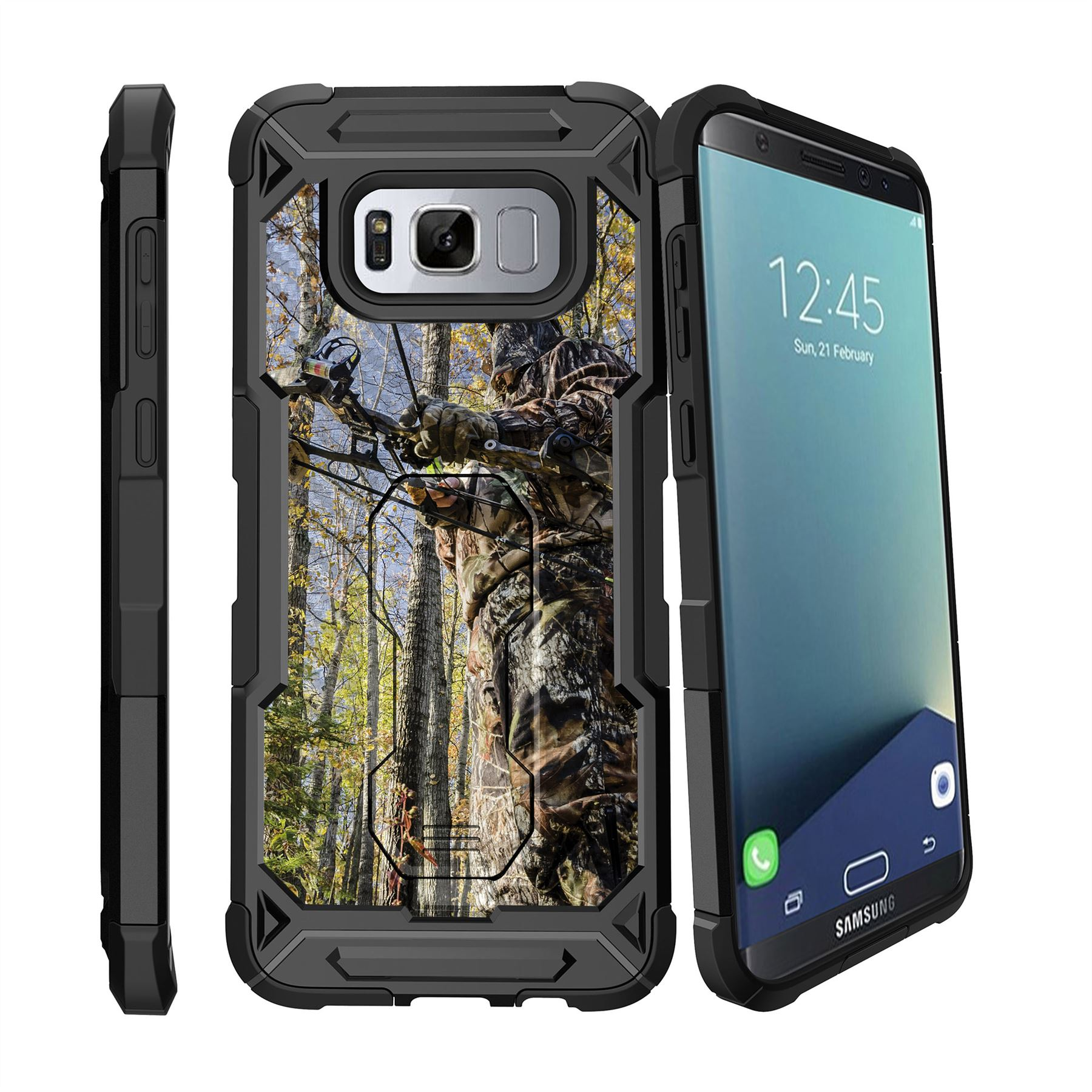for samsung galaxy s8 plus s8 edge plus g955 2017 clip stand case duck ebay. Black Bedroom Furniture Sets. Home Design Ideas