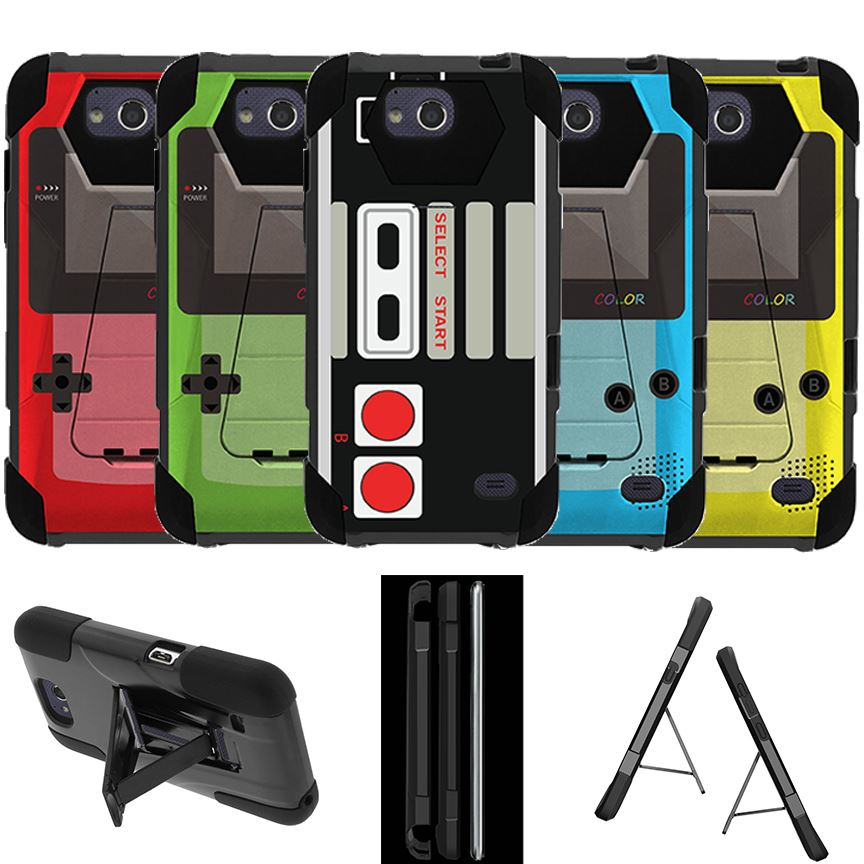 Details about For ZTE Majesty Pro (2017) Case Dual Bumper Hybrid Cover  Retro Game