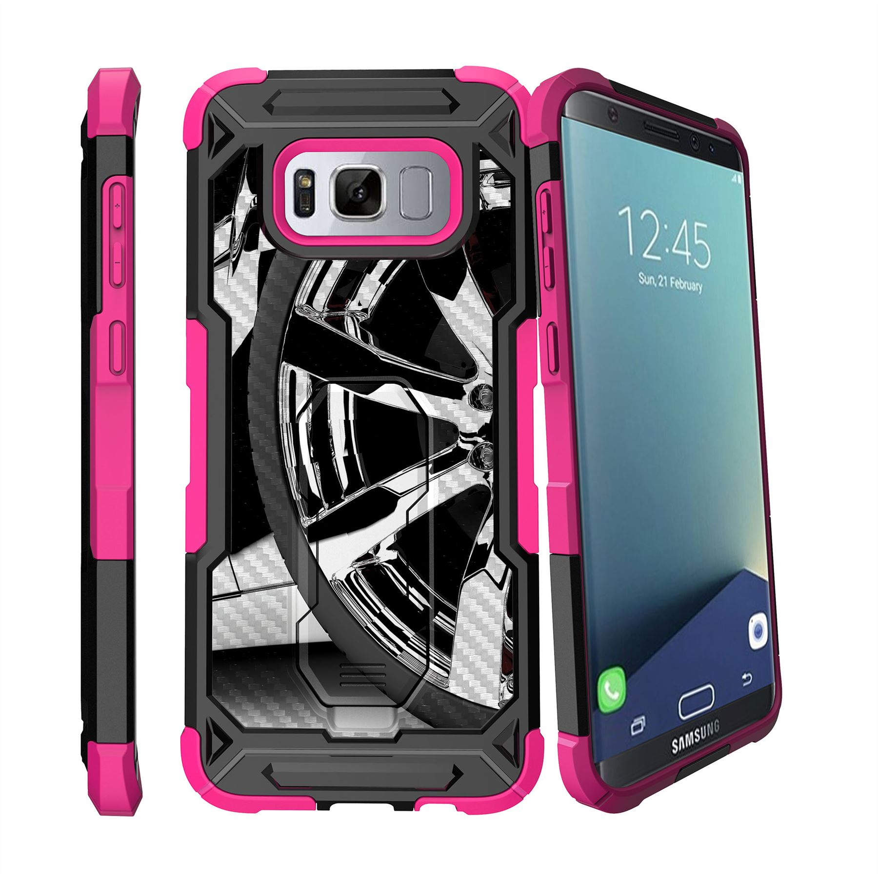 for samsung galaxy s8 plus s8 edge plus g955 2017 clip stand pink case cars ebay. Black Bedroom Furniture Sets. Home Design Ideas