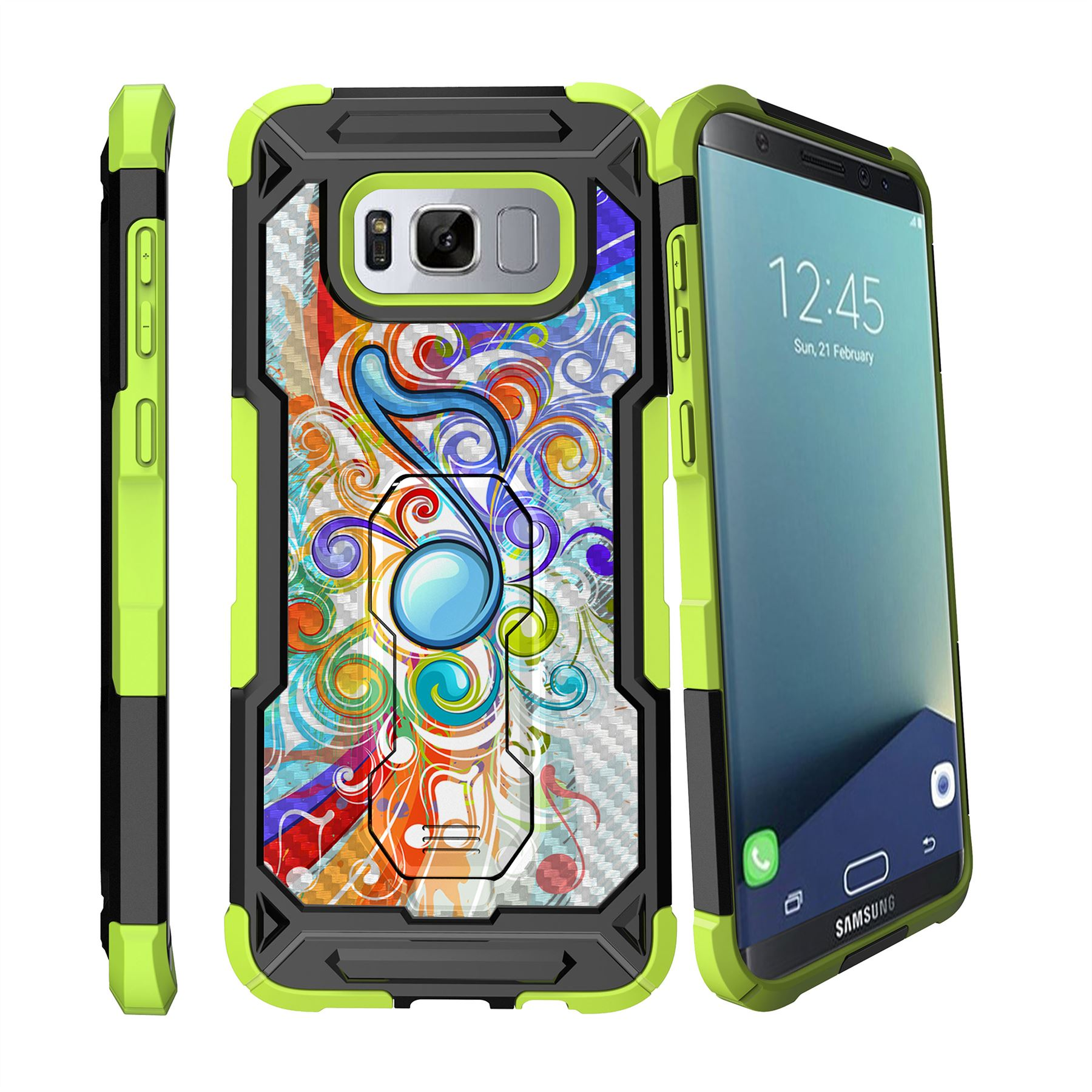 for samsung galaxy s8 plus s8 edge plus g955 clip stand green case ebay. Black Bedroom Furniture Sets. Home Design Ideas