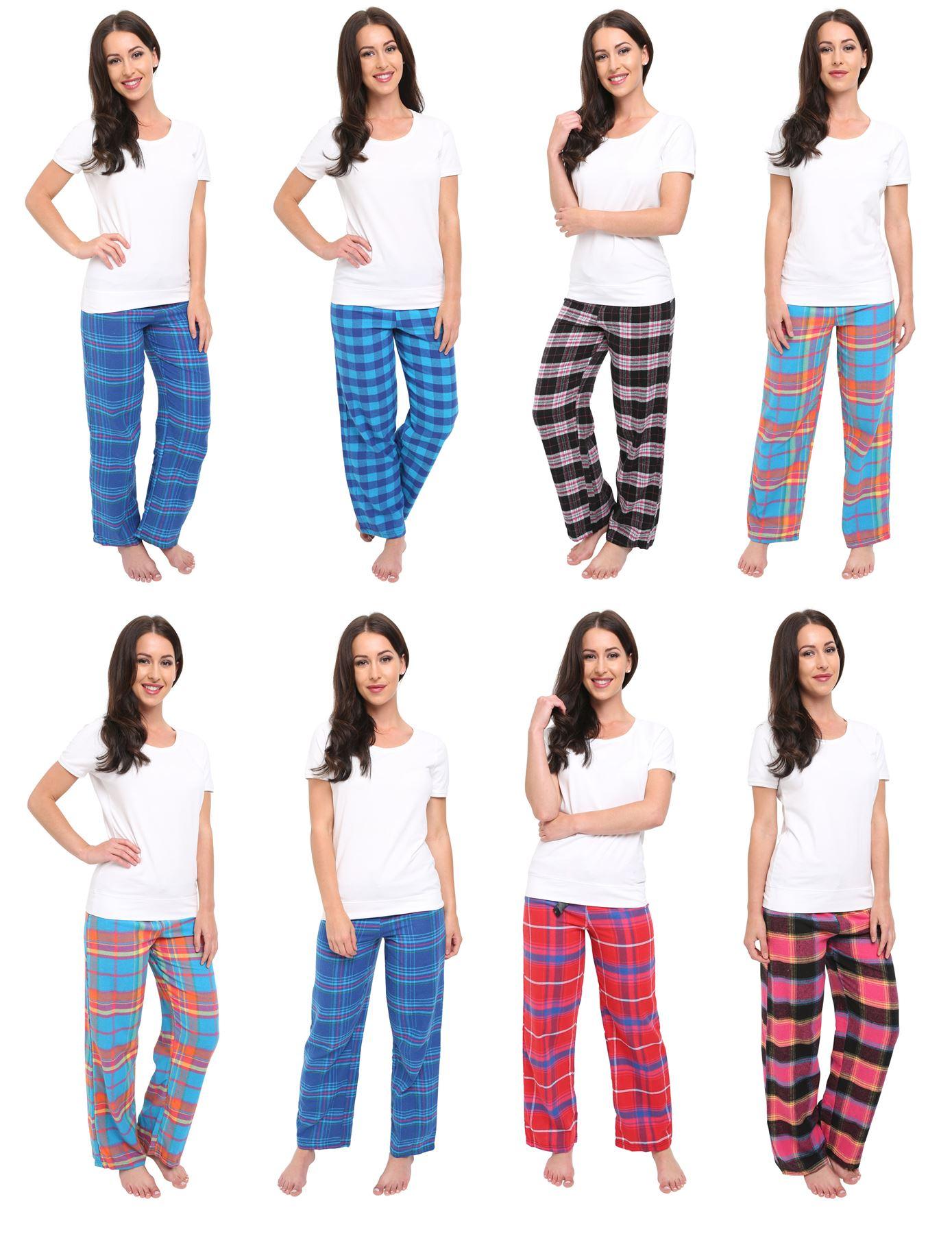buy popular 21ad3 39db8 Details zu Damen kariert Pyjama Set,DESIGNER FLANELL Wohnzimmer Verschleiß  Pyjama,Größe