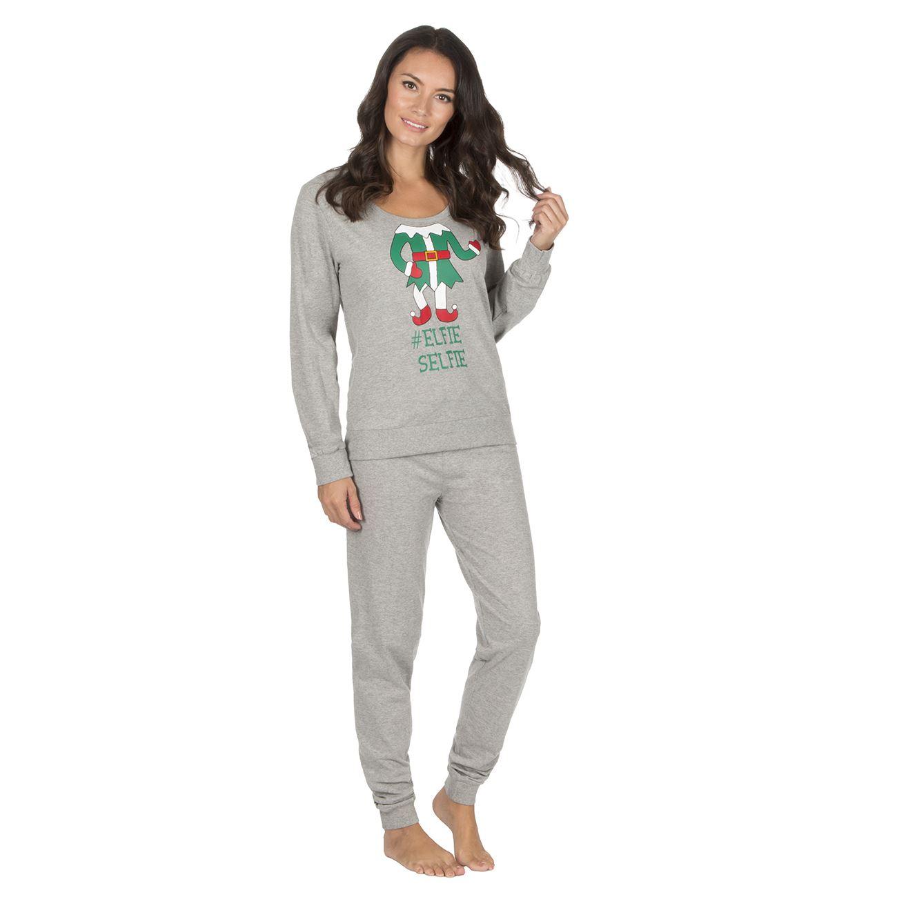 Set Pezzi Elfo Dettagli Elfie Pigiama Su Abbigliamento grigio Due Pigiama Donna BnHH6p1wqg