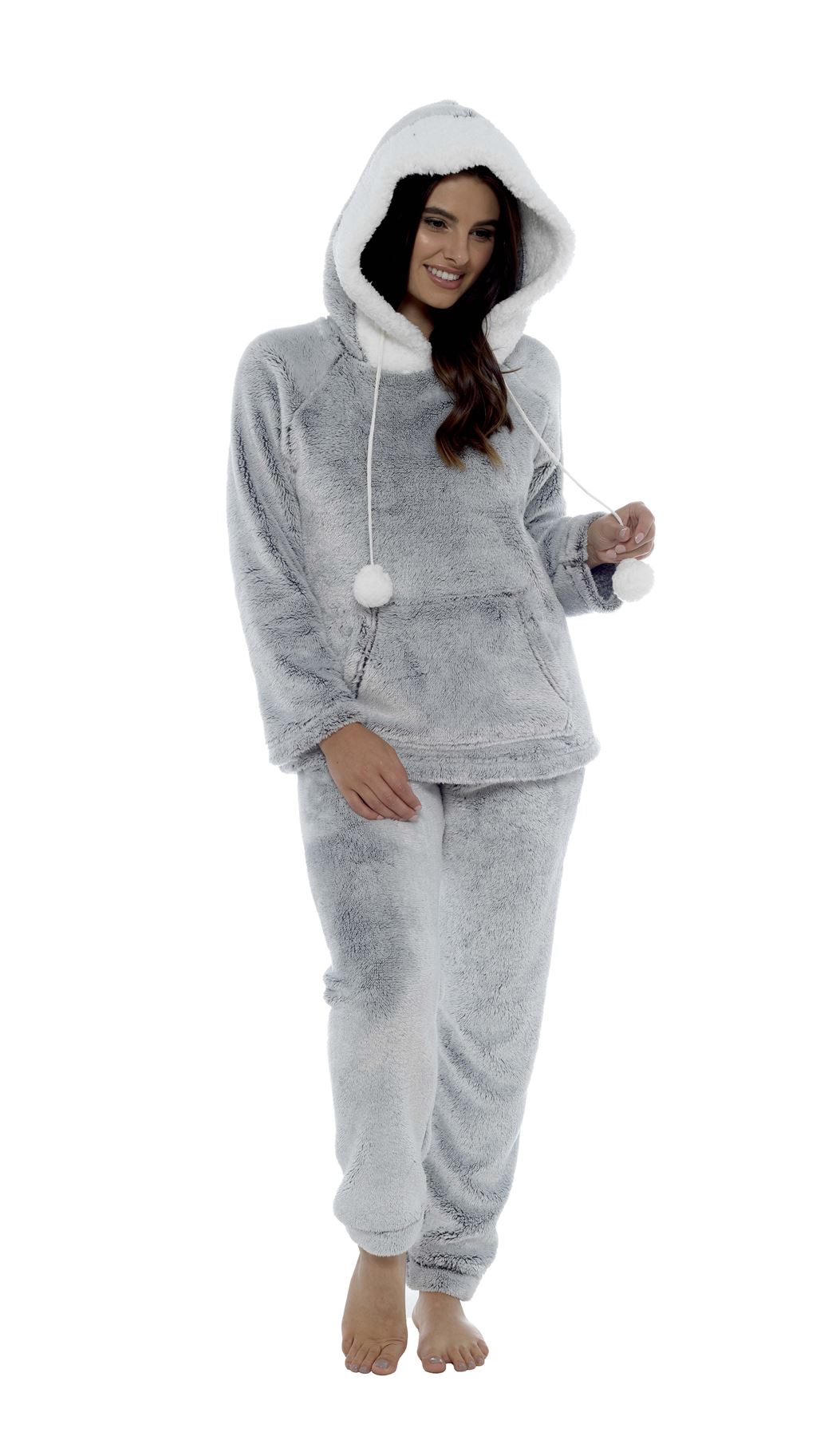 look out for newest style of vast selection Details about Women's Shimmer Fleece Pyjamas, Fluffy Soft Hooded Twosie  Pyjama Set, LN769