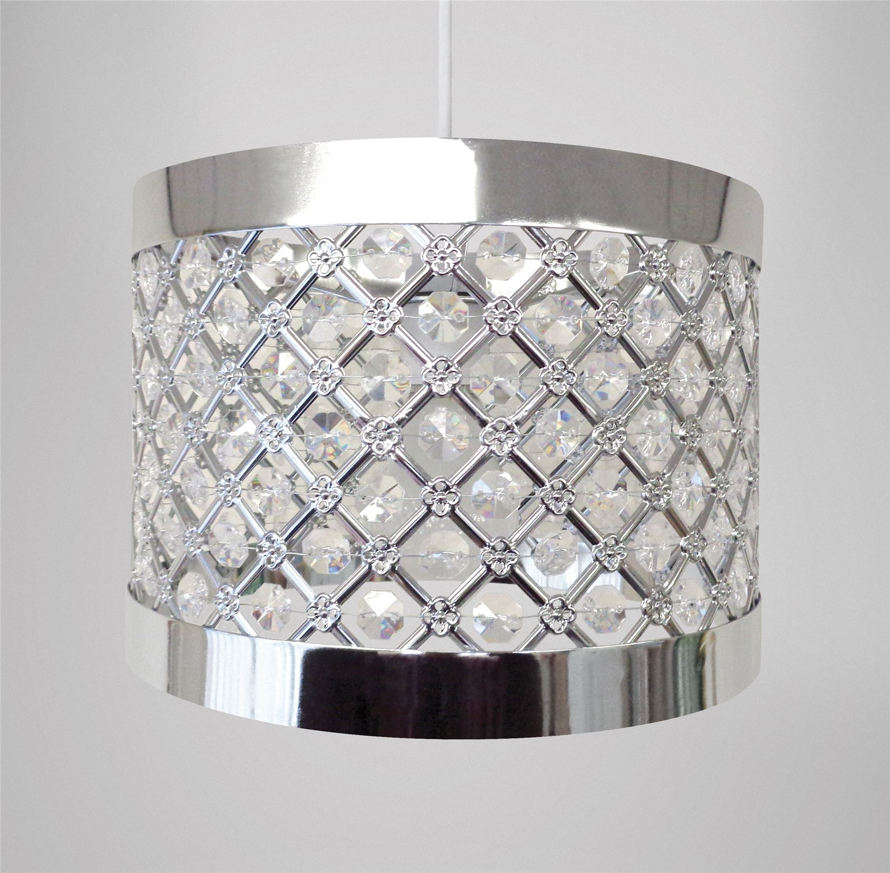 Easy Fit Moda Ceiling Pendant Light Shade, Modern Decoration Sparkly ...