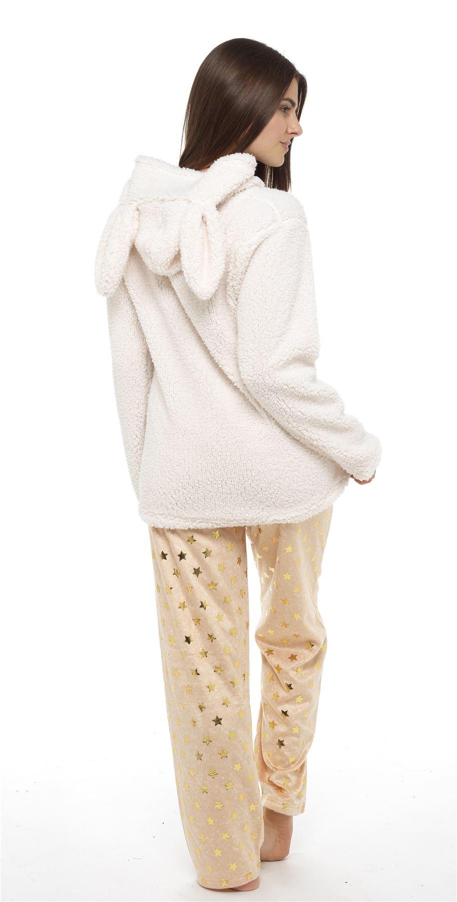 Women s Cat   Bunny Snuggle Fleece Pyjamas 673fd7758