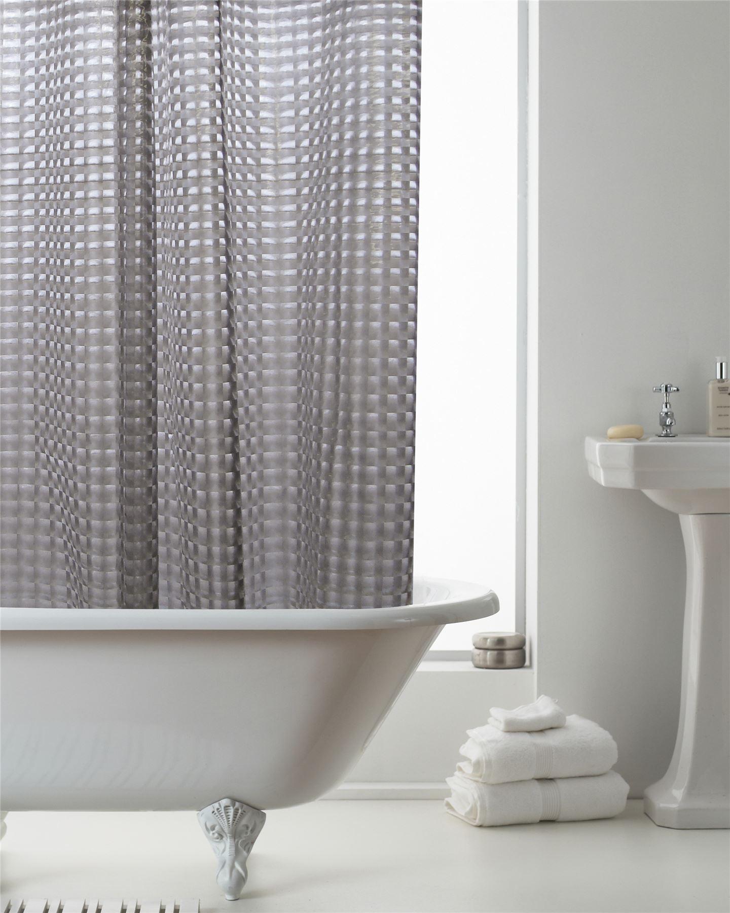 Country Club 3d Smoke Grey Shower Curtain Modern Effective Geometric
