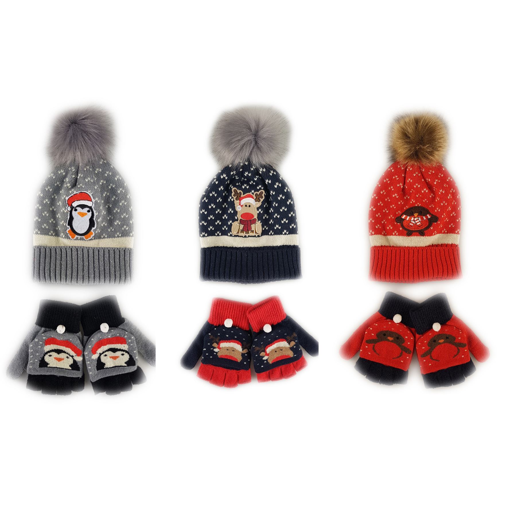 150bc23a8d090 Christmas Hat   Gloves Gift Set