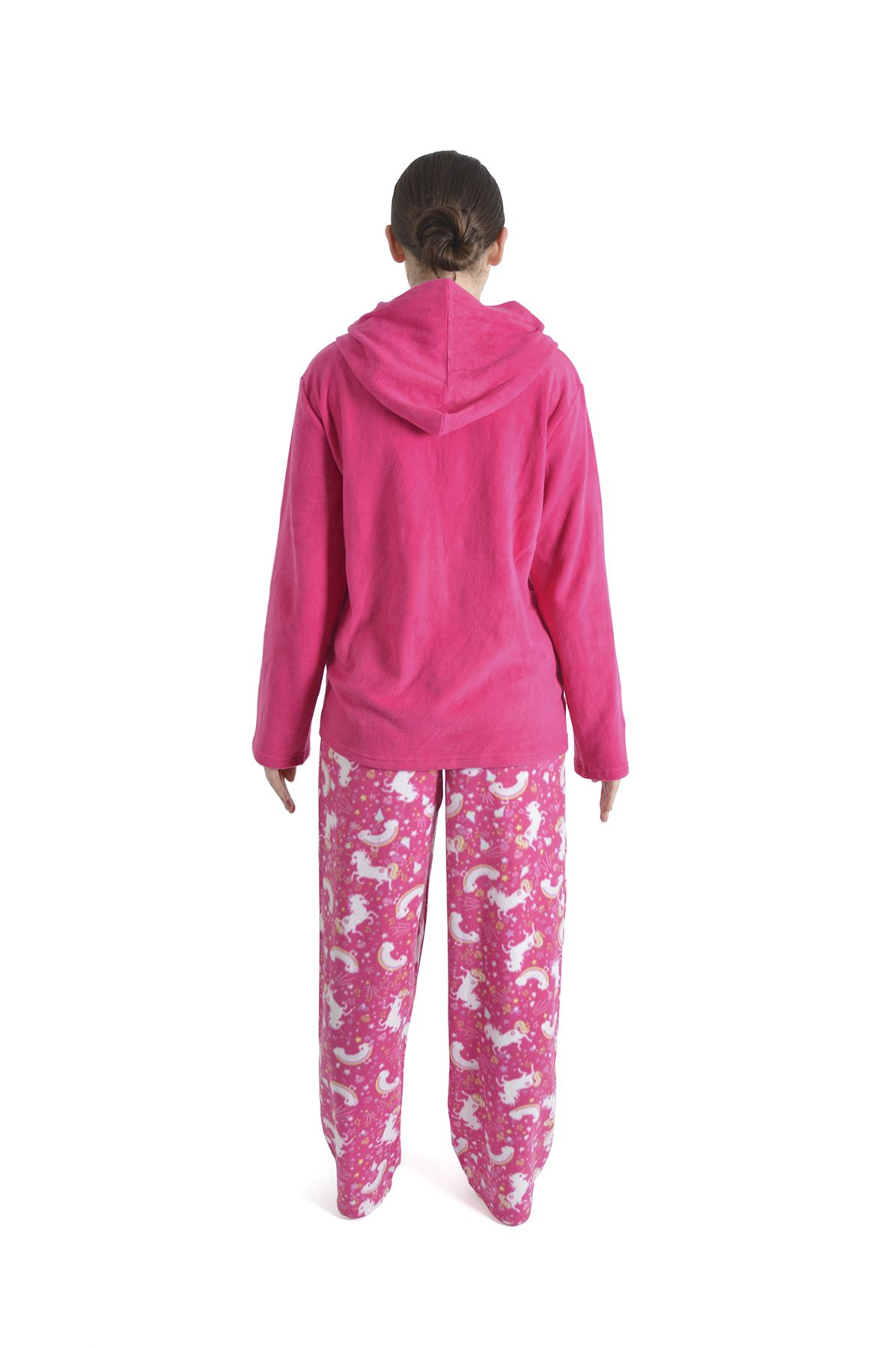 Women-039-s-Unicorn-Hooded-Pyjamas-Fleece-Top- acf2c4b0c