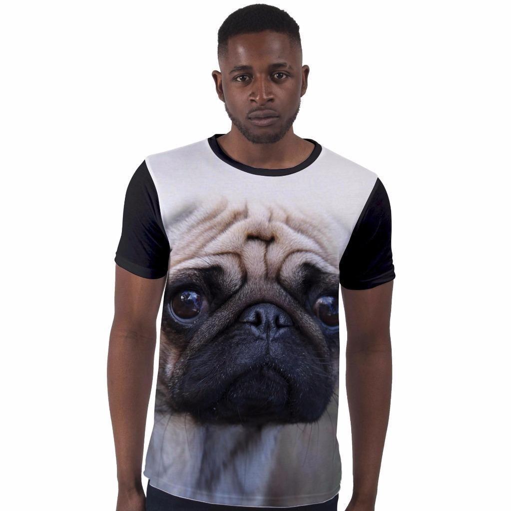New BIG PUG DOG FACE  T SHIRT