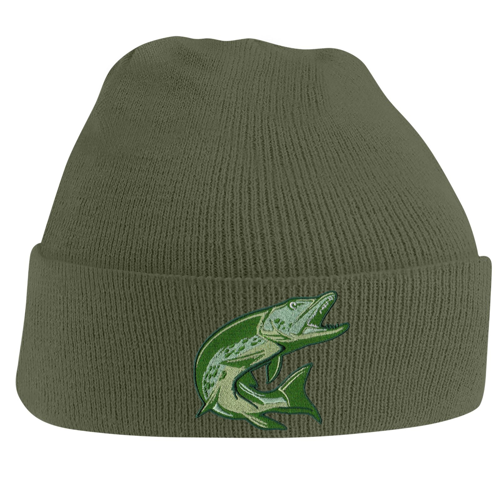 528b31f63fae9 Fishing Beanie Hat Knit Cap Beanies Embroidered Pike Fish Hats Gifts for Men