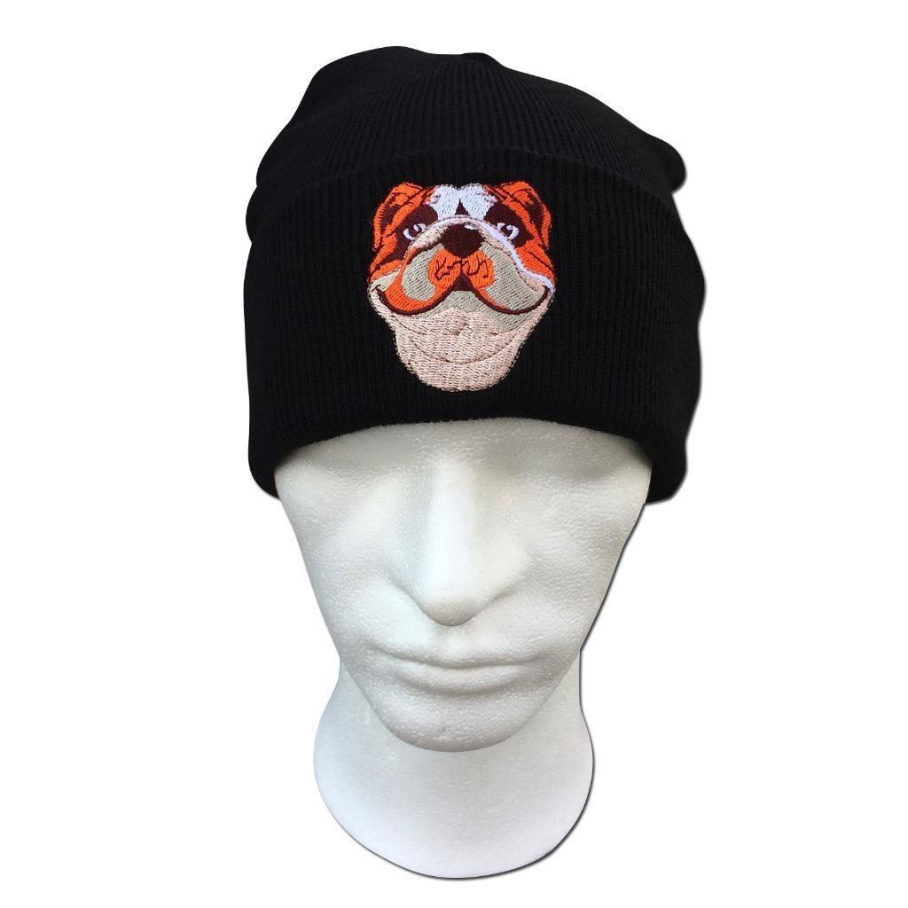 British Bulldog Face Cute Animal Embroidered Beanie Hat Logo Women s ... c6ad276ac98