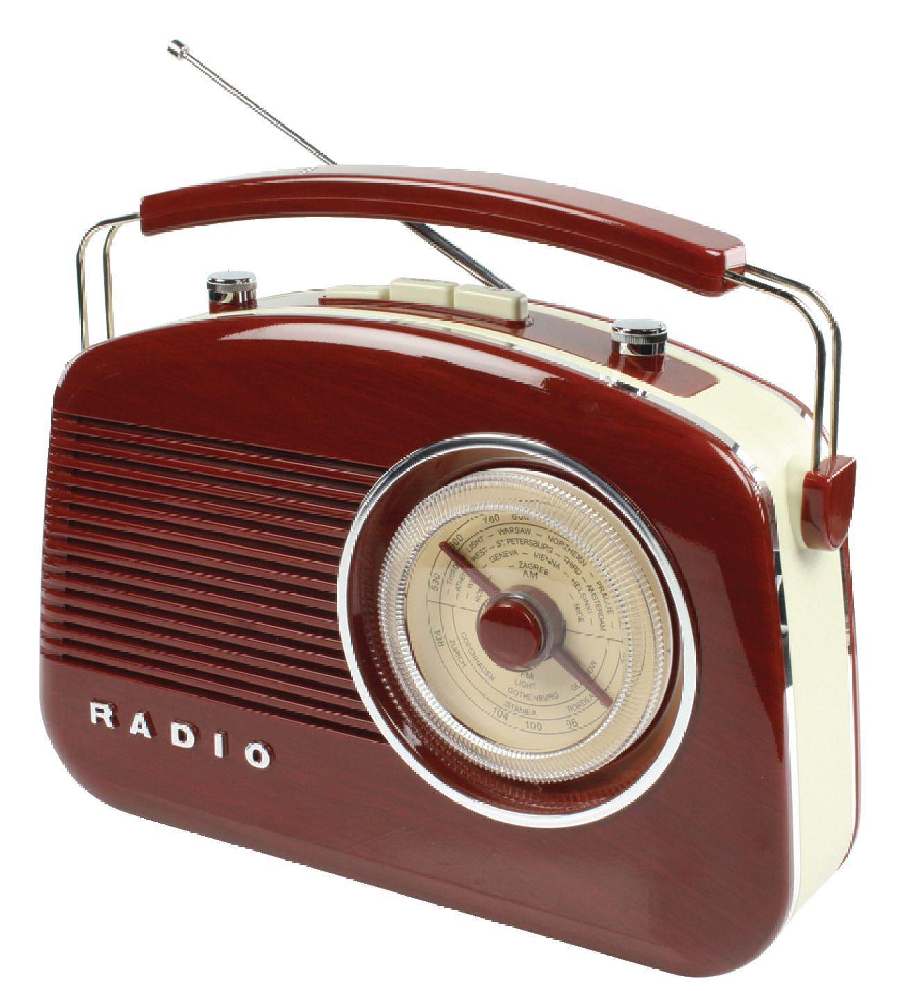 Konig Retro 50s/60s Design AM/FM Radio (Brown) For Living
