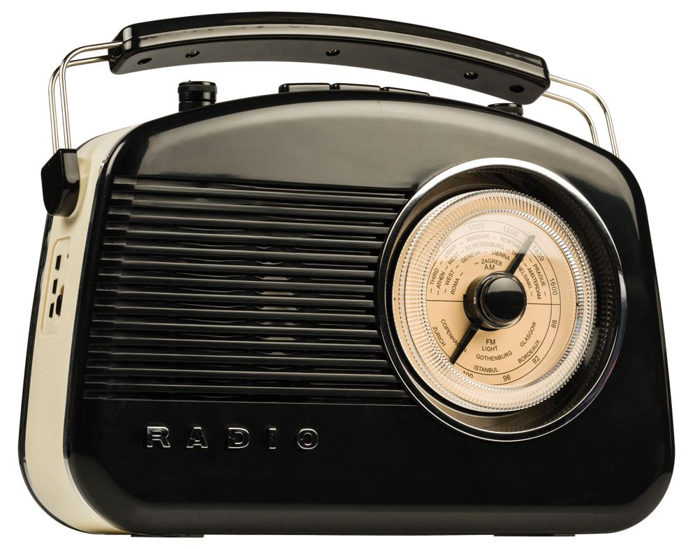 1ed927956 Konig Retro Radio with Bluetooth Wireless Technology (Black ...