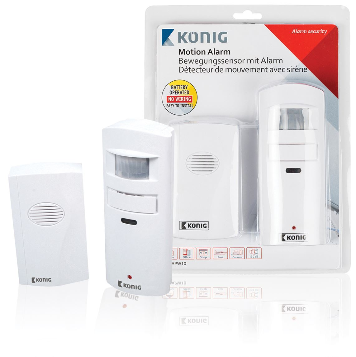 Konig Alarm With Motion Detector Shop Door Entry Chimebell Movement