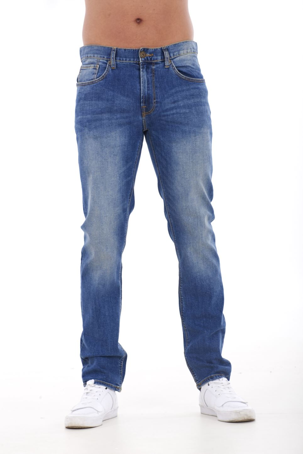 NUOVA-Linea-Uomo-Ragazzi-Slim-Fit-Stretch-Qualita-Jeans-Regolare-Pantaloni-con-marchio-SMART-30-40 miniatura 6