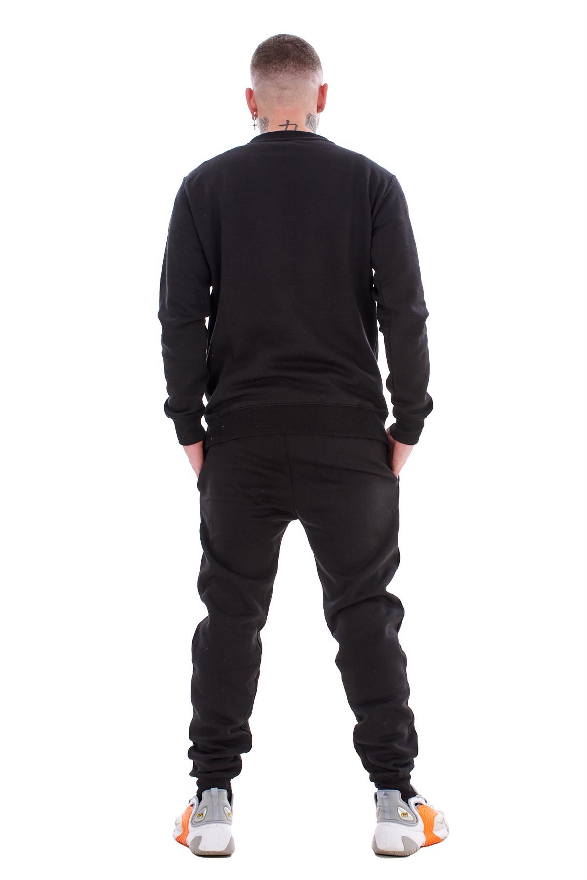 Mens-Plain-Tracksuit-Branded-Fleece-Pullover-Sweatshirts-Cotton-Jogging-Bottoms thumbnail 3