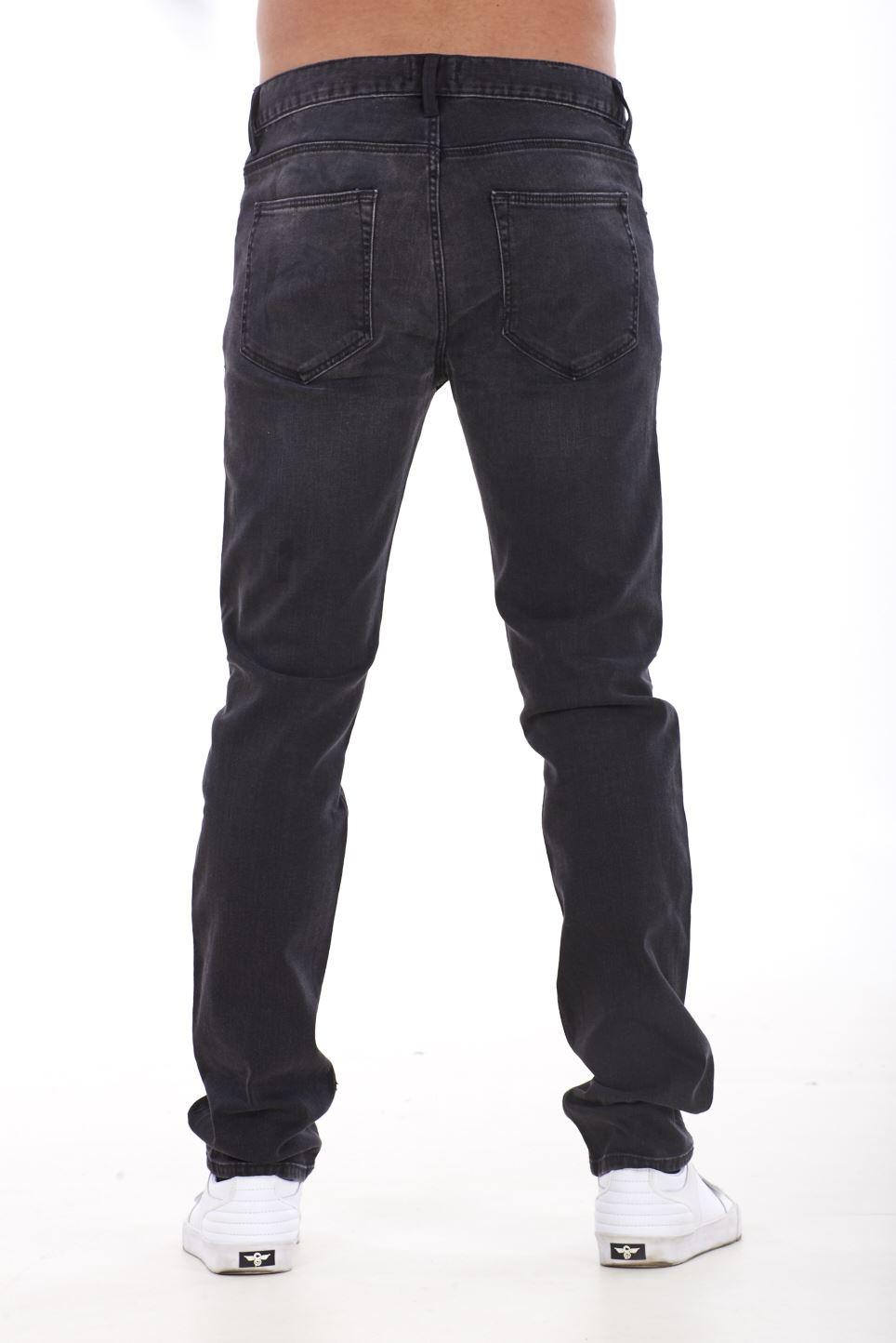 NUOVA-Linea-Uomo-Ragazzi-Slim-Fit-Stretch-Qualita-Jeans-Regolare-Pantaloni-con-marchio-SMART-30-40 miniatura 4
