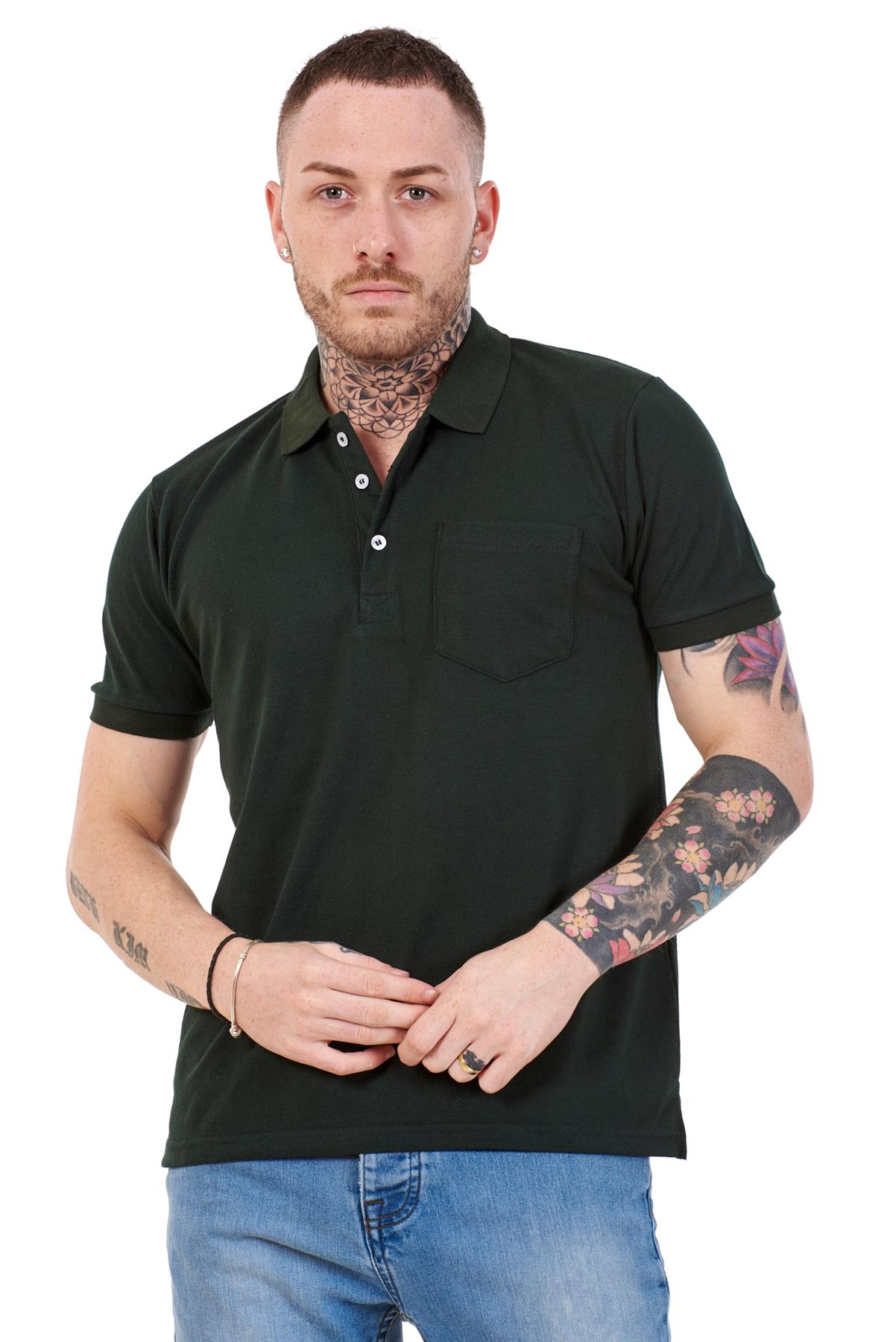Mens-Cotton-T-Shirts-Regular-fit-Plain-Polo-Pocket-Casual-Formal-Shirt-Top-M-XXL thumbnail 15